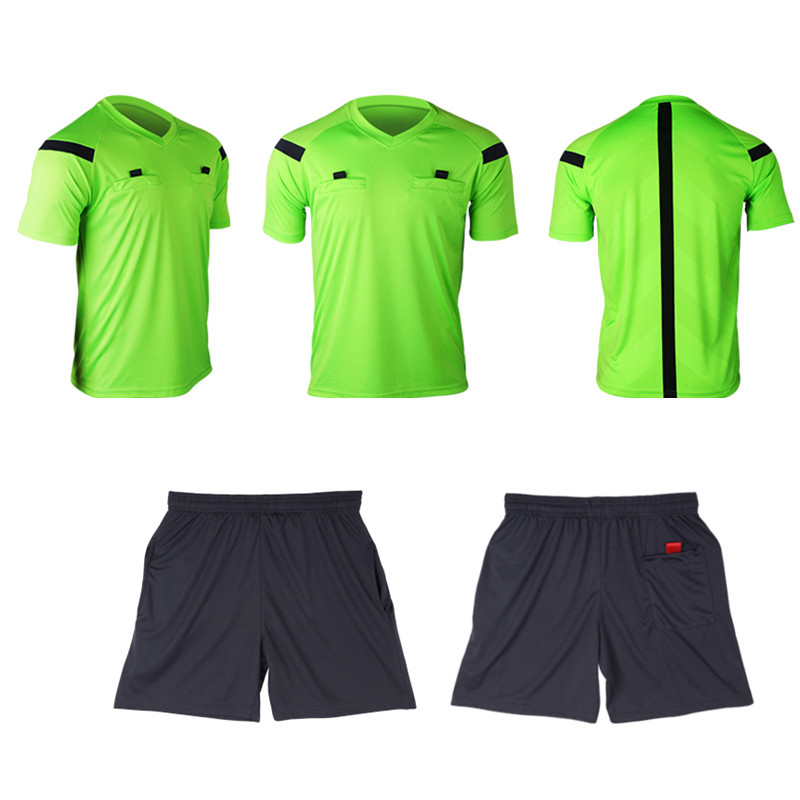 Referee Jersey Soccer Set 2017 Football Judge uniform Futbol Shirt Suit Tracksuits survetement football maillot de foot 4