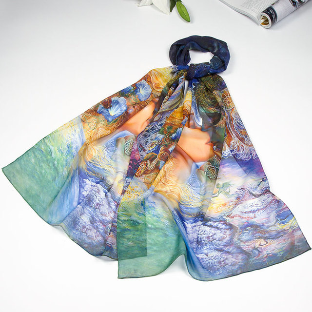 100% Silk Scarf Women Scarf Kiss Silk Shawl 2017 Designer Scarf  Female Silk Pashmina Long Thin Silk Wrap Luxury Gift for Lady