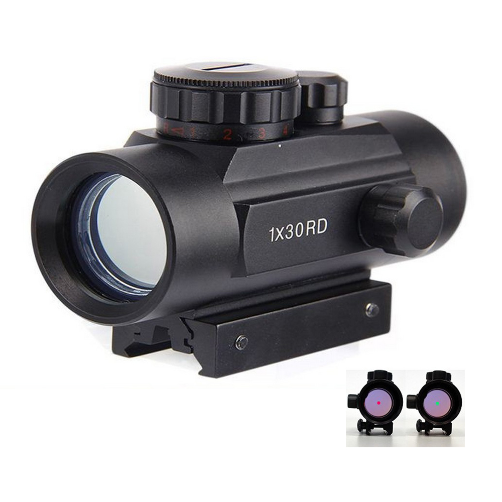 Tactical-1X30-Holographic-Dot-Sight-Airsoft-Red-Green-Dot-Sight-Scope-Hunting-Scope-11mm-20mm-Rail