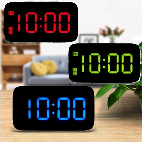 Digital Led Alarm Clock Screen Snooze Usb Battery Ed Voice Control