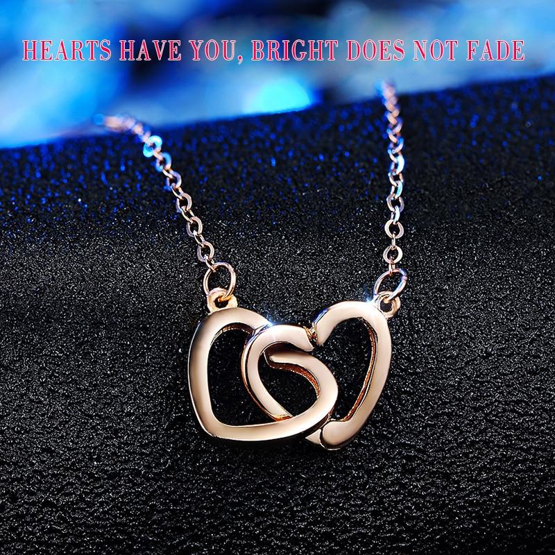 XXX puro collar de oro de 18 k colgante para mujer cadena de encanto - Joyas - foto 3