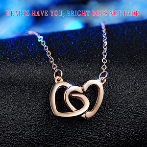 Image 3 - XXX Pure 18k Gold Necklace Pendant For Women Heart Charm Chain Fine Jewelry Elegant Romantic Fashion Real True Solid Party