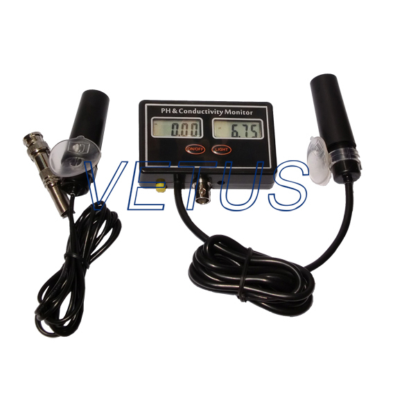 цены PH-2583 Online PH & EC Monitor Aquariums Monitor Online Water Quality PH EC Monitor conductivity monitor