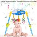 Venda quente Centro de Atividade Do Bebê Jogo Ginásio Exercício Destacável Kit Brinquedo com Música Tocando por 0-1 Anos de Idade bebês