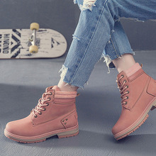 2019 Autumn Winter Ankle Boots Suede Snow Boots Female Warm Shoes Lace Up Women Botas Mujer Brand Martin Boots Plus Size 36-41 недорго, оригинальная цена