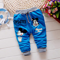 Детские брюки Горячий продавать весенние мальчики Микки pattern хлопок детские брюки 0-2 года ребенок мальчик брюки Спортивные брюки