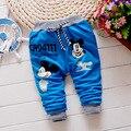 Calças venda Quente de primavera do bebê meninos Mickey padrão de algodão calças do bebê 0-2 anos baby boy calças calças Esportivas