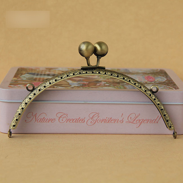coin purse frames fgz3  Free Shipping /155cm bronze Big bead head Metal Purse Frame,purse frame for