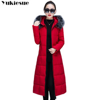 womens winter jackets and coats 2018 Parkas for women long Wadded Jackets female warm Outwear With a Hood Large Faux Fur Collar