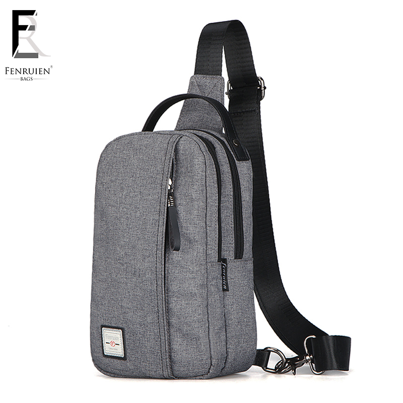 купить FRN Vintage Chest Bag Casual Men Crossbody Canvas Sling Messenger Bag Male Single Shoulder Chest Bags For Men Women по цене 798.97 рублей