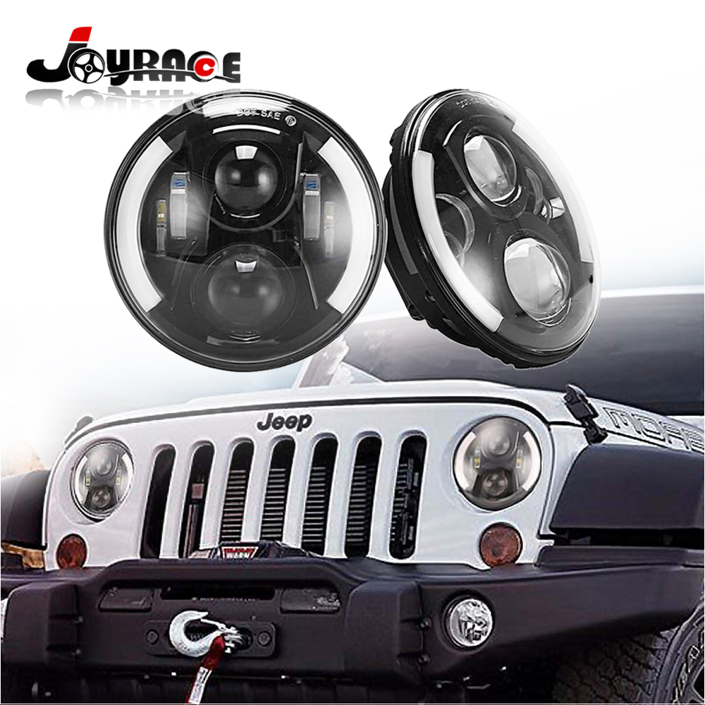 High Low Beam LED Projector Headlight Motorcycle 50W 7 for Jeep Wrangler SUV ATV Harley