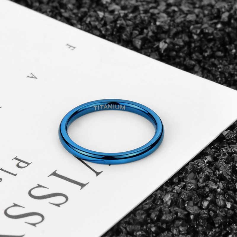 Somen 2 มม.สำหรับผู้หญิงแหวนไทเทเนียมแหวนหญิงแหวนหมั้นชายแฟชั่นเครื่องประดับ Bague Homme Anillos mujer