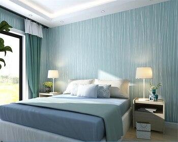 beibehang Non - woven fabrics simple vertical strip Mediterranean moonlight forest wallpaper papel de parede wall paper behang