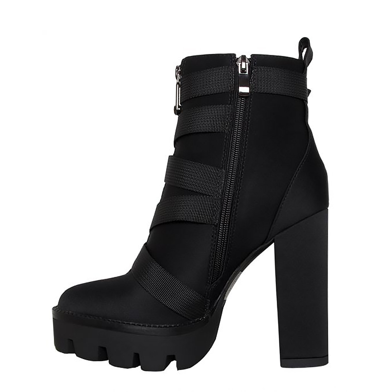Image 5 - Perixir High Heel 4 CM Platform Height Ankle Women Sexy Boots Pointed Toe 15 CM Chunky  Heels Shoe Boot Ladies Shoes Big Size 43-in Ankle Boots from Shoes