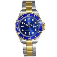 2018 Reginald Brand Men Watch Stainless Steel Role Date Fashione luxury Submariner Clock for Male Reloj Hombre Relogio Masculino