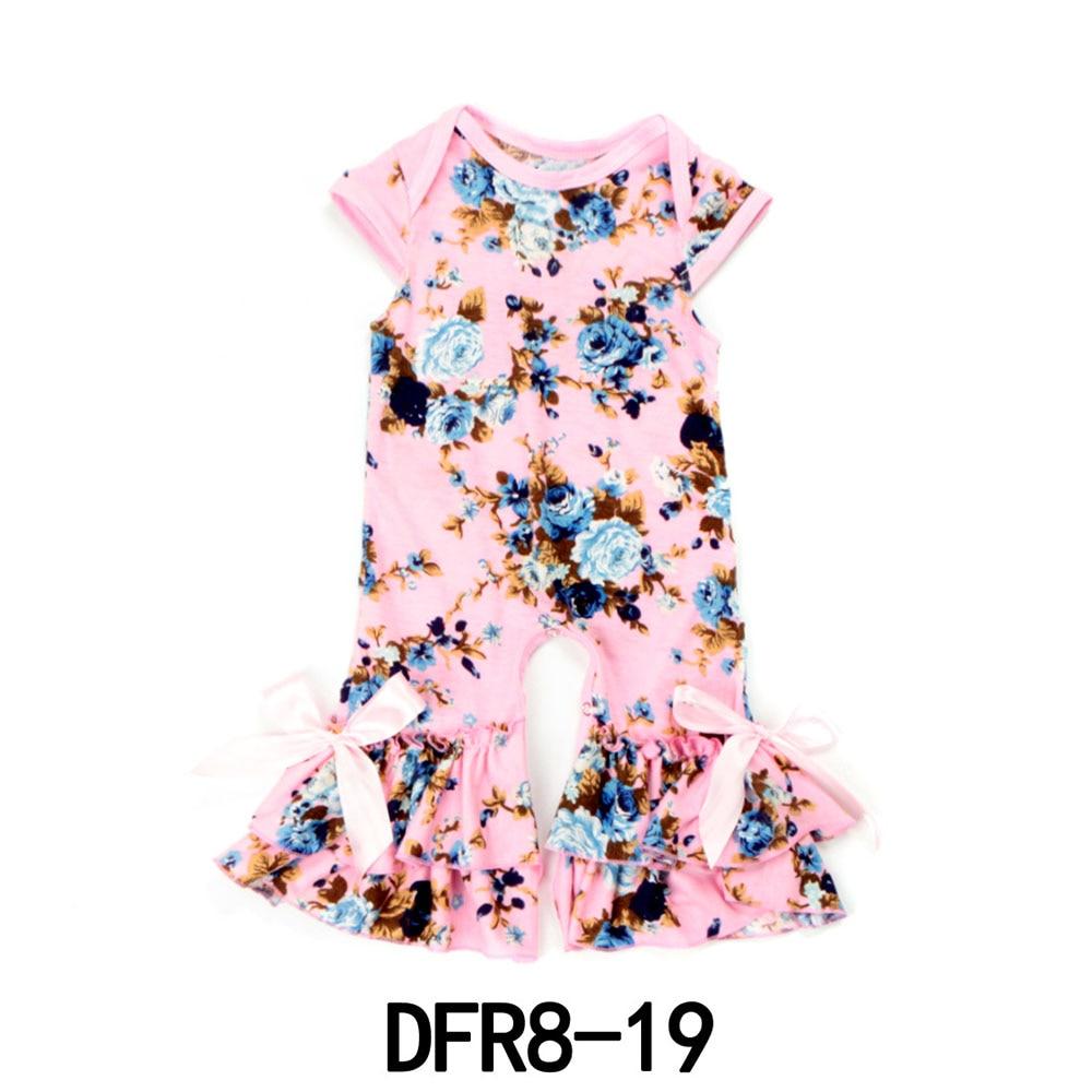 1 шт./лот, цветочный модные хлопковые детские ползунки Одна деталь комбинезон детская одежда 0--24M