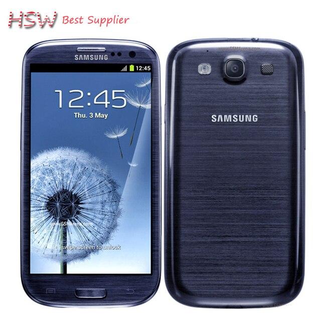 Разблокирована Оригинальный Samsung Galaxy S3 i9300 Сотовый телефон Quad Core 8MP Камера NFC 4.8 ''GPS Wifi 3 Г Телефон Восстановленное Бесплатный доставка