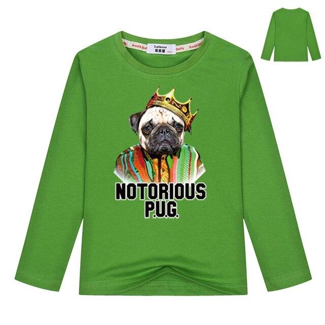 81b130d57 French Bulldog T shirt Boys Green t-shirt Girls tshirt Anime t-shirt  Clothes Spring Autumn Long Sleeve color tees