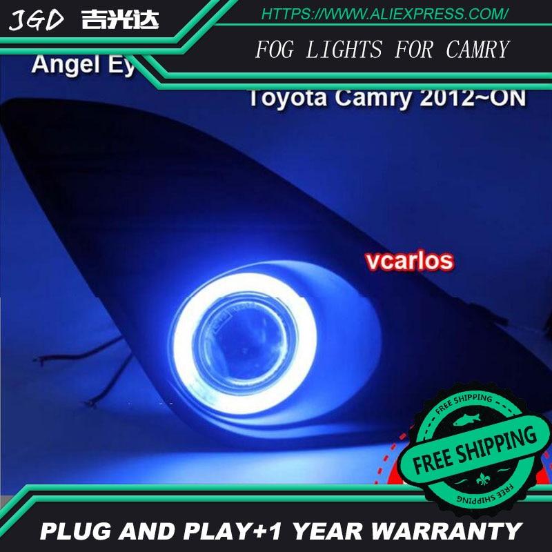 2PCS / Pair 4 Inch 30W Halogen Fog Light For Toyota Camry 2012 High Power Halogen Fog Lamp Auto DRL Lighting Led Headlamp 2pcs pair halogen fog light for toyota avanza 2007 high power halogen fog lamp auto drl lighting led headlamp