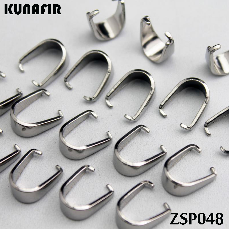 Thick Crisscross Teeth 5.4mm Stainless Steel Hook Pandent Pendants Necklace Accessories Jewelry DIY Parts 100pcs ZSP048