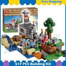 517pcs Meu Mundo 8in1 Caixa de Crafting Reconstruir Treasure Chest 10177 Modelo Building Blocks Toy Bricks Compatíveis com Lego Minecrafted(China)