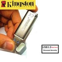 Kingston USB Flash Drive 8 GB USB 3.0 Pendrive De Metal de Segurança Pessoal criptografado USB Memoria Vara cle usb de Alta Velocidade 8 gb de Disco U
