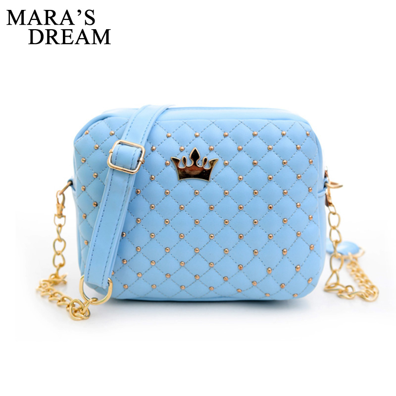 Mara sen małe torba kobieca modna torebka z korona Mini nit torba na ramię kobiety Messenger torby 2019 gorąca sprzedaż 1