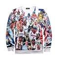 Superstars Sweatshirt 3D Curry Kobe Iverson Hoodies Men Casual Shirt 2016 Winter Unisex Pullovers Long Sleeve Jersey