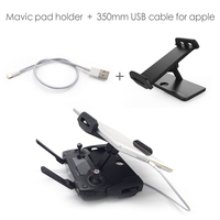 PGY DJI Mavic Pro remote control 7 10 Pad Mobile Phone Holder aluminum Flat Bracket tablte stander Parts RC drones/USB cable