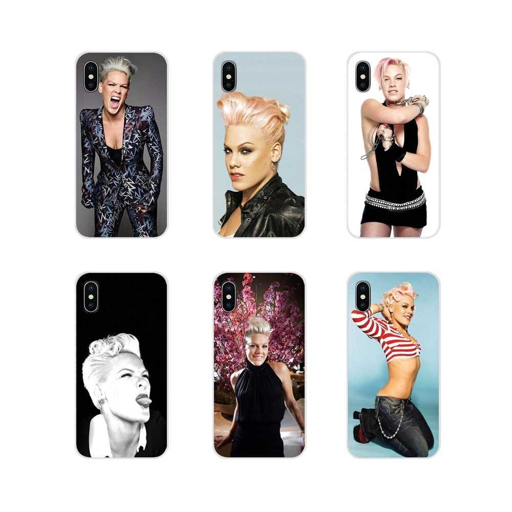 สำหรับ Apple iPhone X XR XS MAX 4 4 S 5 S 5C SE 6 6 S 7 8 plus ipod touch 5 6 โทรศัพท์มือถือครอบคลุม PINK P! nk Alecia Beth Moore Singer