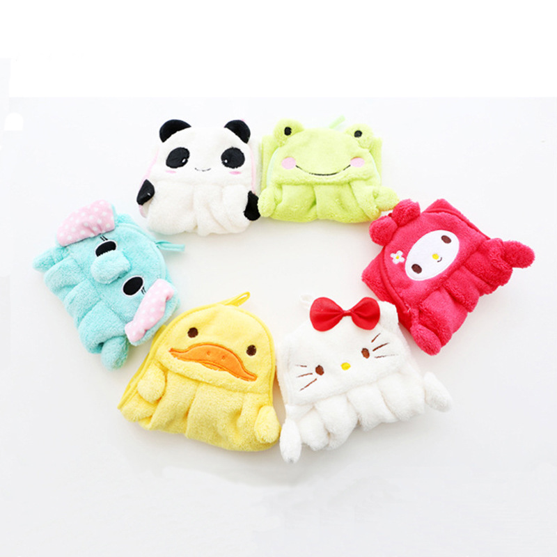 Hot Cartoon Baby Towel Kids Nursery Hand Towel Animal Embroidery Baby Bath Towels Soft Plush Bathing Towel For Children Bathroom