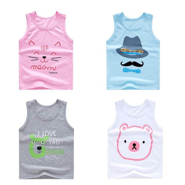 f6897da9 MBBGJOY Baby Girls Boys Tank Tops Sleeveless Undershirts Kids Underwear  Clothing Cotton Summer Vests Tshirt Fashion Tees