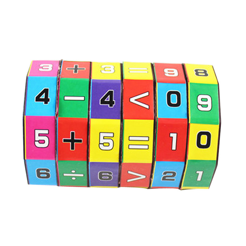1pc New Children Kids Mathematics Numbers Magic Cube Toy Puzzle Game Gift Fluffy Slime Juguetes Montessori Lps Toys A1