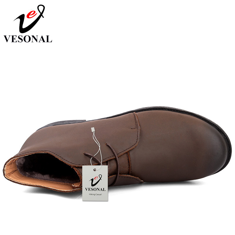 Quente 205 Ankle 2018 Vesonal Genuínos Adulto With Inverno Boots Negócios Boots Calçado Masculina Boots black Curto Da Neve Moda Do Sapatos brown De Black Couro Plush Fur Pele Botas 5q1a5C