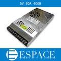 Лучшее качество ультра тонкий 5 В 80A 400 Вт импульсный источник питания драйвера для из светодиодов 100 240 AC 100-240в В входная , чтобы DC 5 В бесплатная доставка