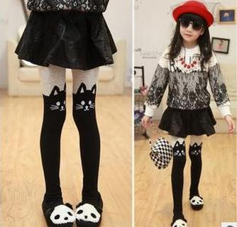 Hot seller spring autumn childrens cat false princess over-the-knee pantyhose girls render pantyhose free shipping