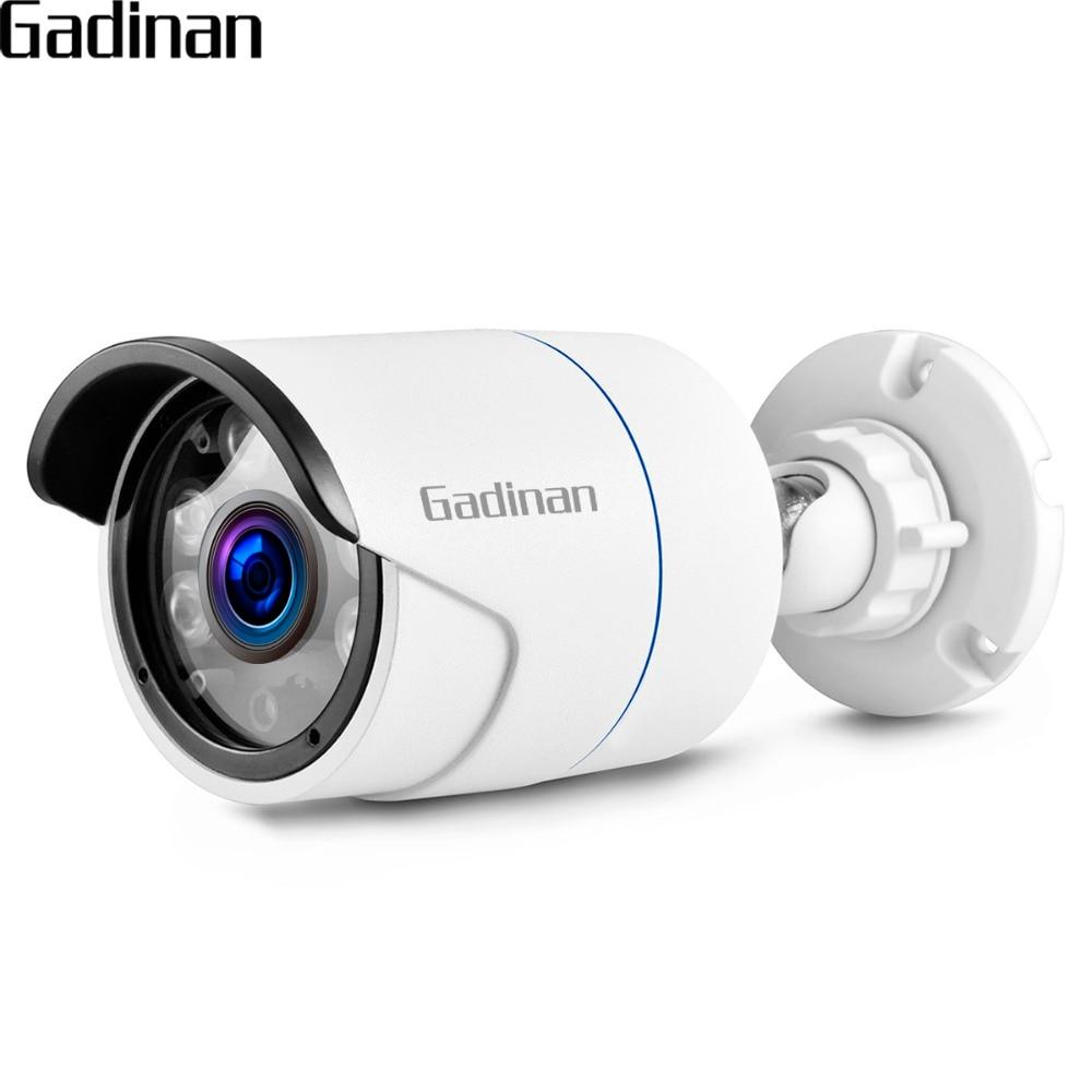 GADINAN IP Caméra 5MP 3MP 2MP H.265 PoE Sécurité Étanche Bullet caméra CCTV IR Nuit Vision 6 rangée IR CCTV Accueil Caméra métal