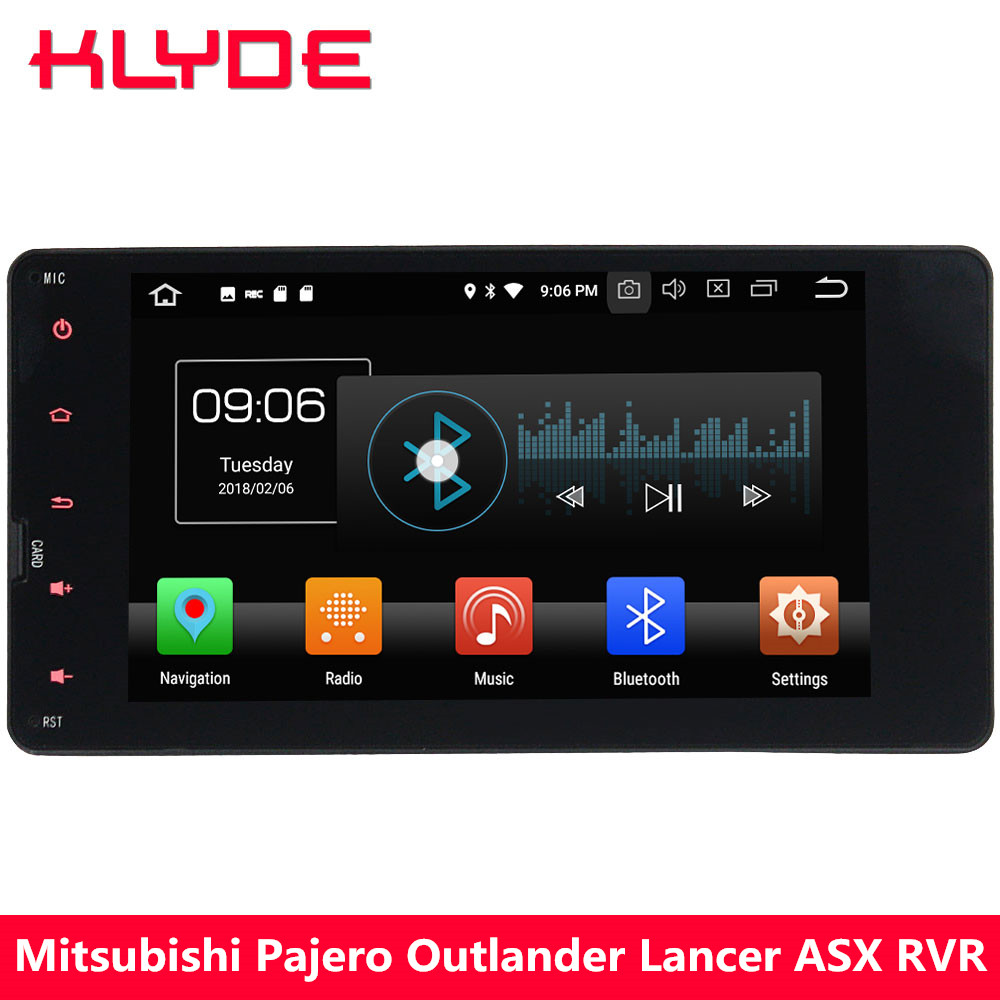 KLYDE 4G Octa Core Android 8.0 4 GB RAM 32 GB ROM lecteur DVD multimédia de voiture pour Mitsubishi Lancer Outlander ASX RVR 2013 2014 2015