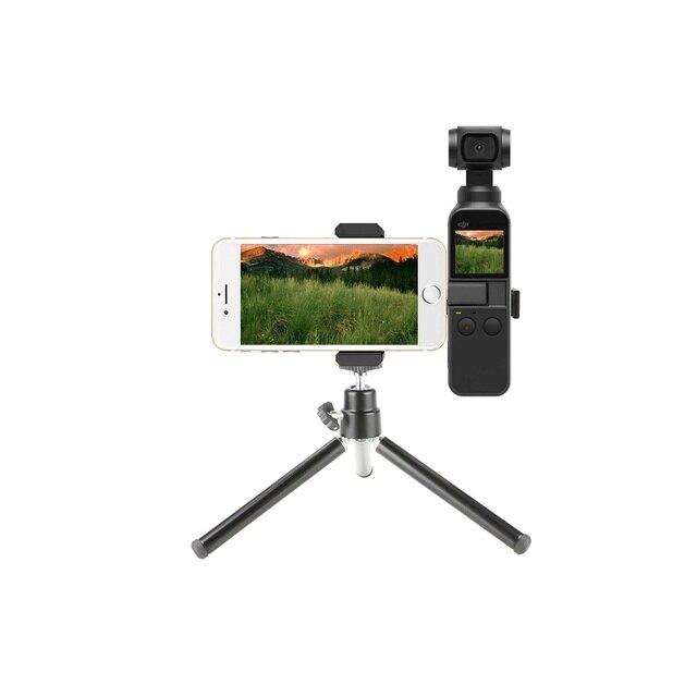 MiNi câmera Pega Cardan Multi Funcional Liga de Alumínio Monte Tripé Para DJI Osmo 3-eixos estabilizado de Bolso handheld