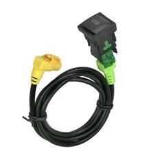 USB аудио коммутатор кабель жгут RCD510 RNS510 для Volkswagen VW для гольфа MK6 Jetta MK5 поло