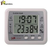 Sale Digital LCD Thermometer Hygrometer Electronic Temperature Humidity Meter Weather Station Indoor Outdoor Tester Alarm Clock