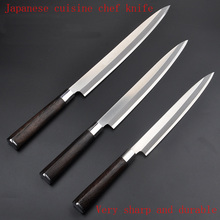 Free Shipping LD stainless steel kitchen knife salmon sashimi raw fish fillet chef knife cooking knives Sashayed gift