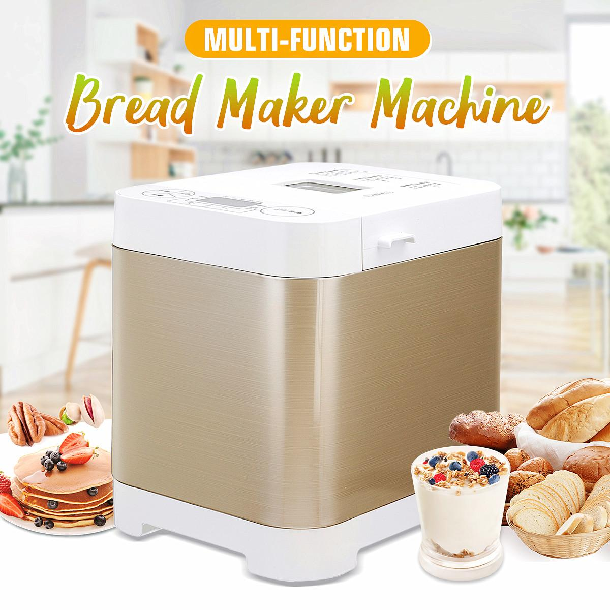 New 450W Mini Multifunction Bread Maker Automatic Intelligent Bread Baking Home Diy Yogurt Maker Machine Household Cooking Tools