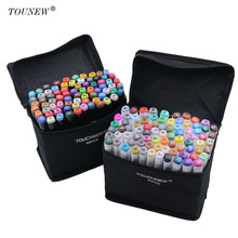 TOUCHNEW 60 80 Color Dual Head Art Marker Set Alcohol Sketch Markers Pen for Artist Drawing
