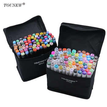 TOUCHNEW 60/80 Color Dual Head Art Marker Set Alcohol Sketch Markers Pen for Artist Drawing Manga Design Art Supplier - DISCOUNT ITEM  40 OFF Education & Office Supplies