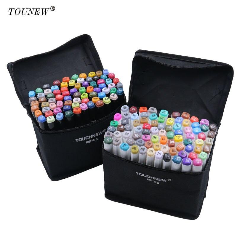 TOUCHNEW 60/80 couleur double tête Art marqueur Set alcool croquis marqueurs stylo pour artiste dessin Manga Design Art fournisseur