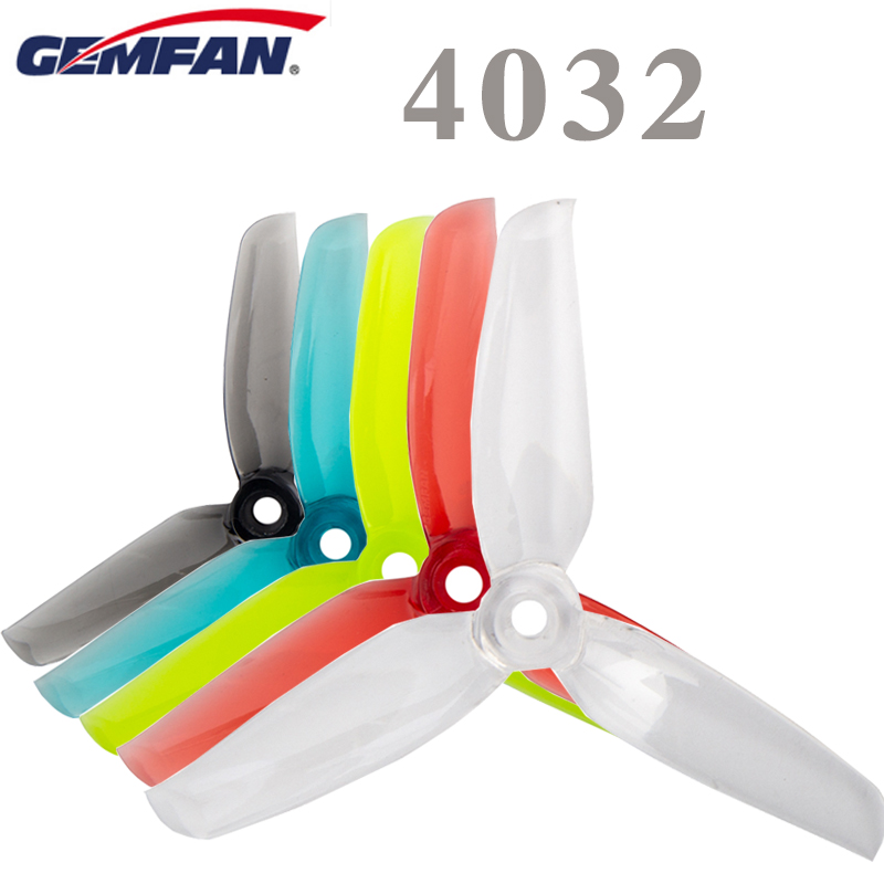 8 Pcs Gemfan 4032 4inch tri-blade/3 blade CW CCW Propeller Compatible 1406 <font><b>2205</b></font> <font><b>Brushless</b></font> <font><b>Motor</b></font> For FPV Drone Spare part image
