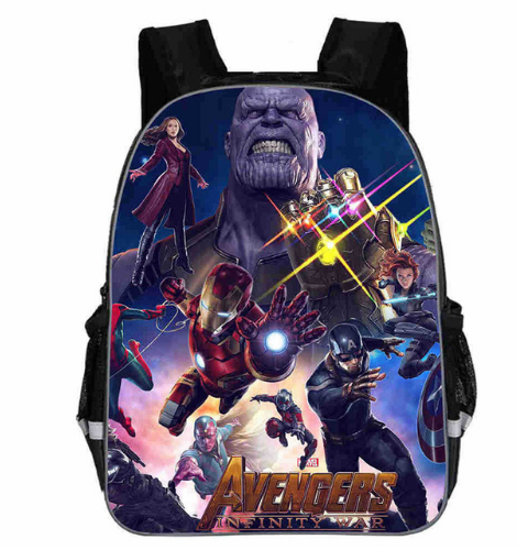 2b74987b85cf 12 Inch Avengers Iron Man Captain America War Kindergarten Backpack Kids  School Bags For Boys Toddler