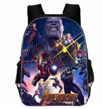 366d873adb1 12 pulgadas Avengers Iron Man Capitán América guerra Kindergarten mochila  niños bolsas de escuela para niños mochilas niño niños Bookbag