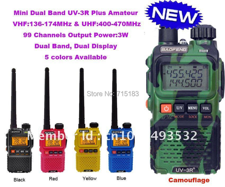 Baofeng UV 3R Plus Dual Band Mini Pocket dua cara radio BAOFENG UV-3R + Plus 99 saluran vhf & uhf walkie talkie penghantaran percuma